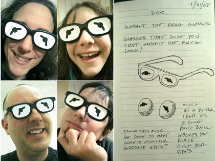 Turning ideas into reality, make your own Kermit the Frog glasses