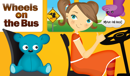 The first children's app from Duck Duck Moose called Wheels on the Bus