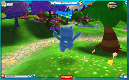 Screen capture of the new Ganz virtual world for kids called Amazing World