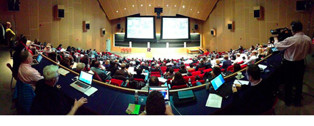 Photo of a conference hall