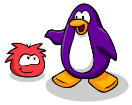 Penguin and Puffle from Club Penguin