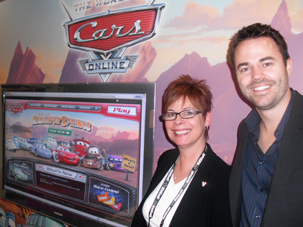 Rachel DiPaola, Lane Merrifield of Disney Interactive Studios and the launch of World of Cars