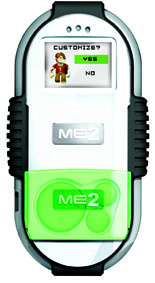 This ME2 handheld device by Irwin Toy is a gaming unit, a pedometer, and a currency collector to be used in an online world