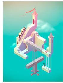 Beautiful art and engaging game play can be found in the Escher-esk app called Monument Valley