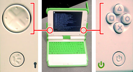 OLPC XO laptop game buttons