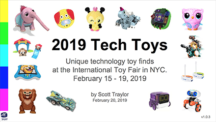 Scott Traylor's 2019 Technology Toy finds from the International Toy Fair