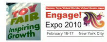 The virtual world conference Engage Expo was held at the same time and same location as the annual NY Toy Fair