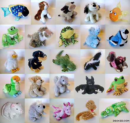 Multiple Webkinz plush dolls