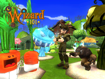 The Wizard101 garden is truly magical.