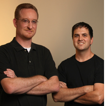 The creators behind Wizard101: Josef Hall and Todd Coleman